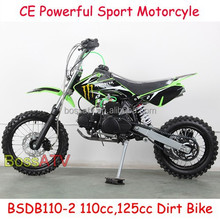 Chain Transmission system 4 Stroke 110CC 125CC Dirt Bike with Monster Sticker