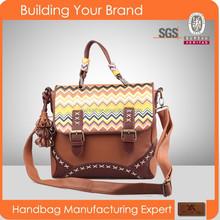 2501 Gorgeous Satchel Style Ladies PU Handbags, PU Material Leather Handbags