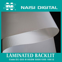 NAISI brand Laminated backlit flex banner for advertising printing material 610gsm