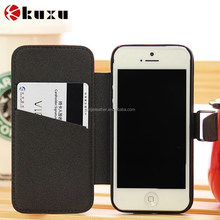 Wholesale fresh color flip stand leather wallet case for iphone