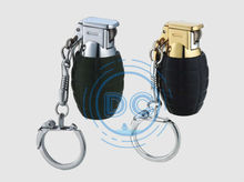 Cool refillable grenade flame lighter/cigarette lighter/lighter keychain