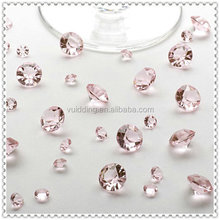 Light Pink Table Diamond Scatter For Wedding Party Acrylic Confetti