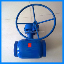 GOST Fully Welded Standard Port Ball Valve PN40 DN80 with Gear