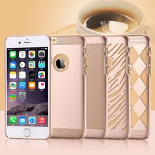 For iPhone 6 Hard Back Case Golden Age Fashion Diamond Wave Dots Skins Clear Plastic Case For iPhone 6 4.7 inch Slim Armor Cover