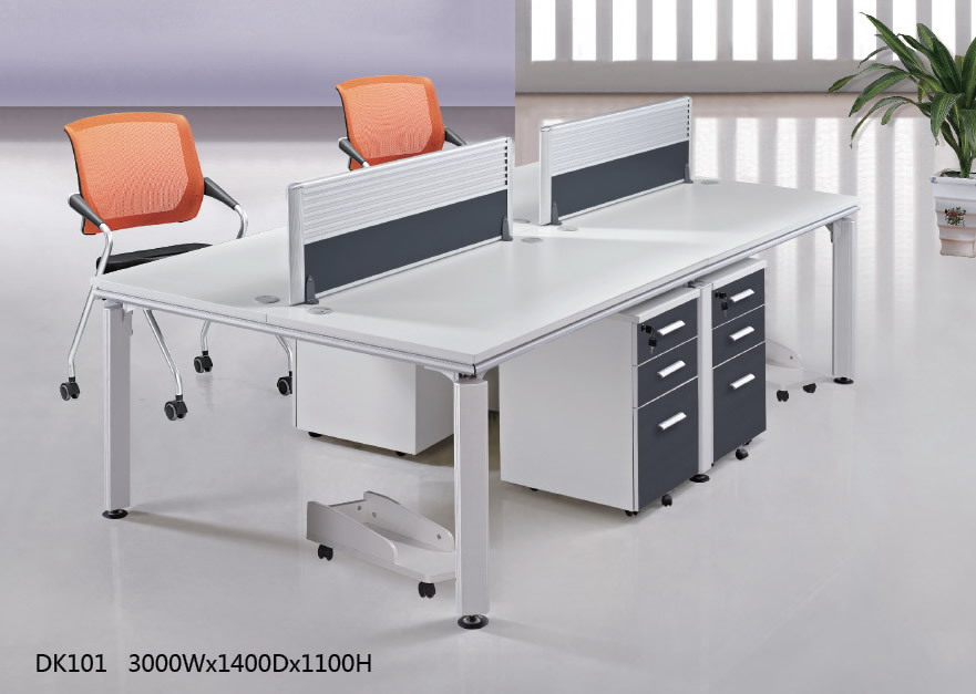 modern design style wood office furniture 4 person office workstation