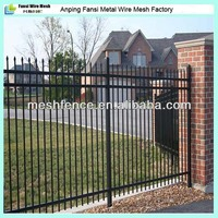 6' H tubular steel fencing for brick wall China supplier