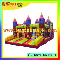 Kule popular cartoon inflatable gaint slide for children indoor playground big slides for sale