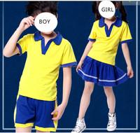 primary kids summer school uniform