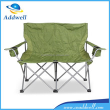 Outdoor portable camping double seat beach folding chair