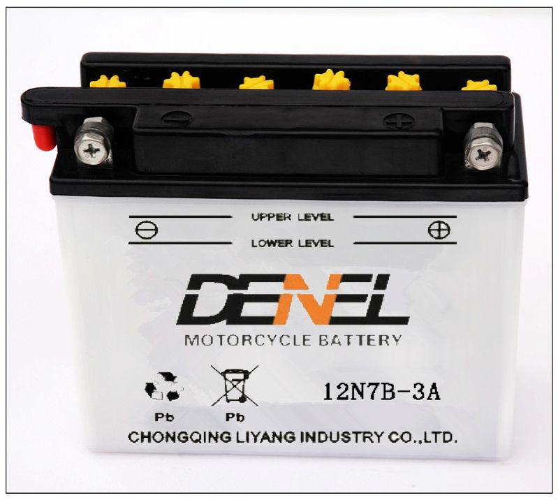 Свинцово-кислотных аккумуляторов электрический мотоцикл части Motocicleta Batteries12v 7AH ( 12N7B-3A ) )