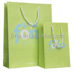 Luxury private logo promotional paper gift bag