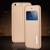 Deluxe Flip Window Leather Stand Case For iPhone 6 Leather Case