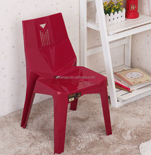 Top sale high quality plastic backrest armless wedding chair dining chair