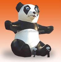 huge inflatable female panda mascot figure