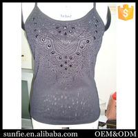 Custom Cotton Comfortable telas para ropa ropa de dama sexy blouse