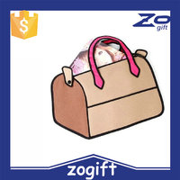 ZOGIFT New Fashion 3D Cartoon Comic Women's Handbags/2D Shoulder Bag/Stocked Ladies 3D Women's Bag