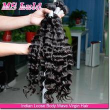 unprocessed 100% natural soft indian virgin human hair thick bundles vendors price list