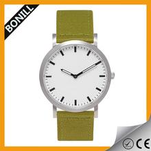 Minimalist simple design super slim fashion quartz watch simple with nylon band