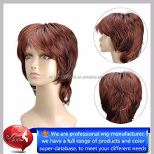 Quality guarantee japanese kanekalon short style natura curl wigs, wholesale rusk hair
