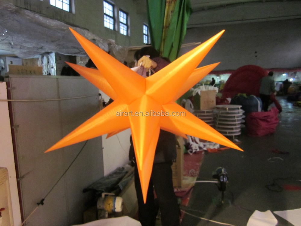 Giant Outdoor Wall Decor : Giant garden wall decor inflatable bendable star