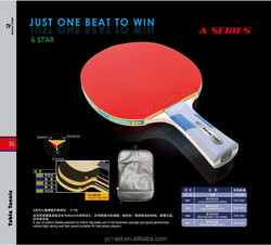 REACTOR wholesale high-quality professional 6 star table tennis racket/table tennis bat with bag