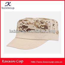 fashion custom military design flat top army cotton camo baseball cap