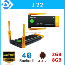 quad core rk3188 android 4.2 tv stick J22 with remote contral