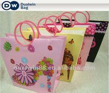 Most Fashion 2012 3D Cartoon Paper Shopping bag