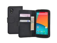 Genuine Premium Flip Wallet PU Leather Case For LG Nexus 5
