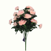 Artificial flowers for party supplier 18 branches mixed bouquet rose&carnation gift craft no scented for sale