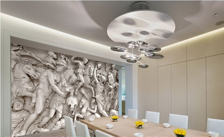 3D Wallpaper Greek Roman Statues Art Mural Wall Paper ...