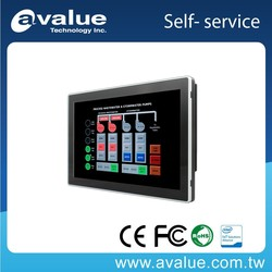 10.1 inch Intel Atom SoC Processor D2550 Fanless Full Flat PACP Multi-Touch Panel PC with Full IP-65