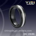 Diamante negro anillos de cerámica, las mujeres anillo de cerámica negro, diamante anillo de compromiso