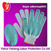 Green Anti Grip Rubber Dotted Cotton Knitted Construction Gloves