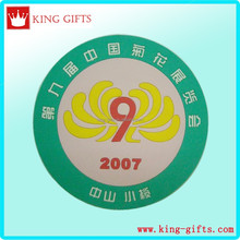Custom 3D chrysanthemum green pvc fridge magnet