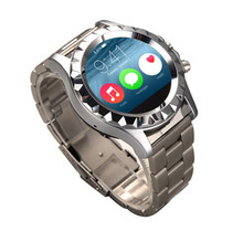 fashion design metal housing wrist watch mobile phone with bluetooth, MP3, stopwatch