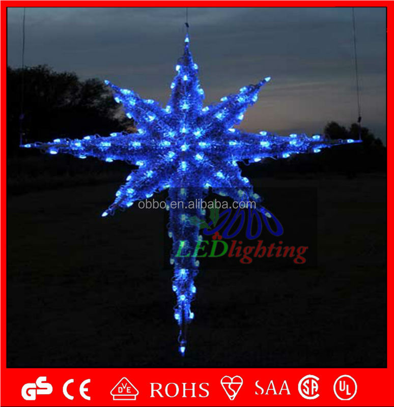 Christmas decoration led Acrylic hanging star lighting, View Christmas ...