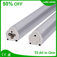Integrated T5 LED Tube With 3-Pole Connections & Cables CE RoHS Pass