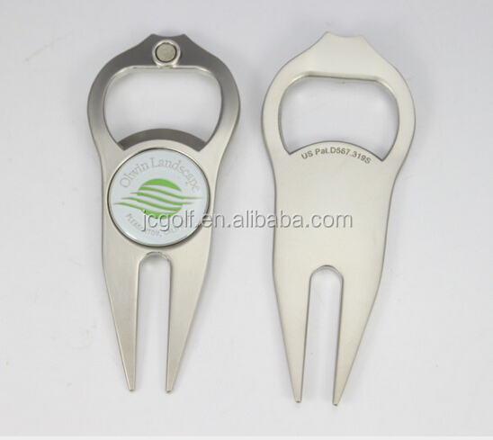 wholesale new design bottle opener golf divot tool with customized ball marker. Black Bedroom Furniture Sets. Home Design Ideas