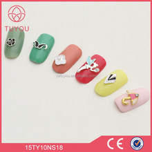 High qualtiy factory wholesale fashion nail glitter, nail products, nail charms