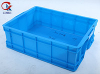 HDPE plastic stackable square crate vegetable storage box with lids
