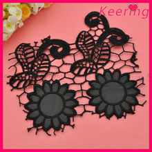 fashion custom lady black decorative lace trimming for clothing WTP-1257