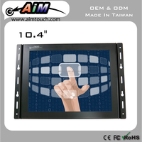 10.4 inch 4:3 open frame lcd monitor atm machine kiosk 1024x768 resistive touch screen displays