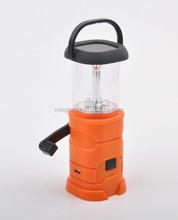 Hand crank dynamo portable small usb solar camping lantern