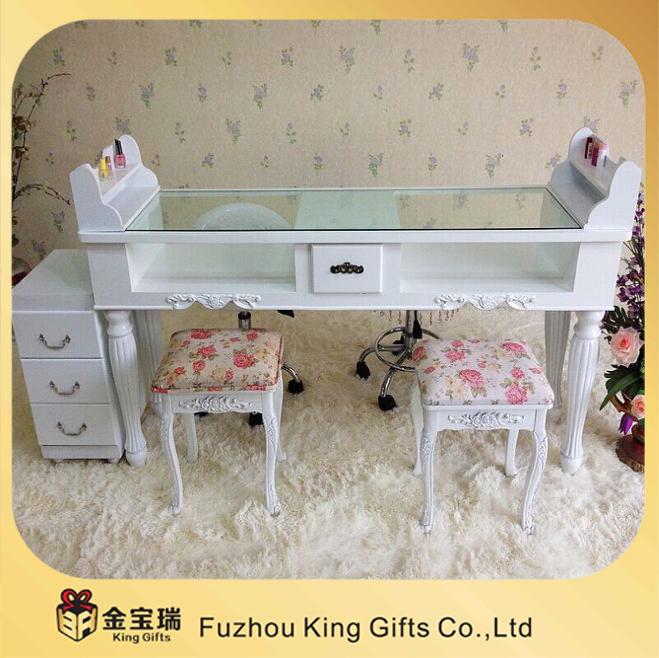Vidrio mesa de manicura y pedicura silla de muebles de for Sillas para hacer pedicure