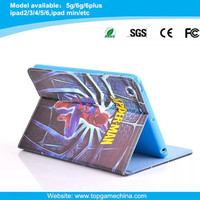Spider-man Pattern book style leather case for iPad mini 7inch table pc