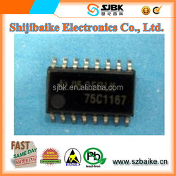 DUAL DIFFERENTIAL DRIVERS AND RECEIVERS SN75C1167NSR