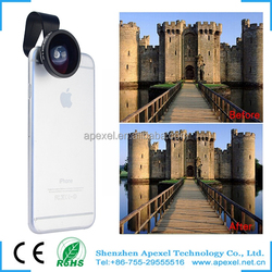 APEXEL top sale 0.4x super wide clip-on lens camera cover for mobile phone ipad notebook