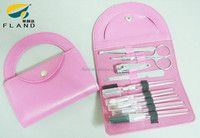 Hot sell nice pink case for lady manicure set professional nail supplies