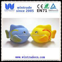 promotional rubber fish light up fish flashing bath toy